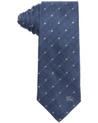 Burberry London Light Indigo Dotted Print Silk 'Earl' Tie blue - Lyst