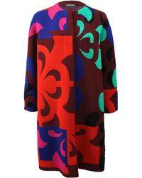 Alexander McQueen Broken Flower Coat multicolor - Lyst