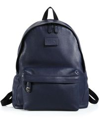 Coach Refined Pebbled Leather Backpack blue - Lyst