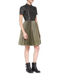 Marc By Marc Jacobs Crinkled-bodice Mandarin Dress - Lyst