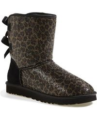 Ugg 'Bailey Bow Glitter' Boot black - Lyst