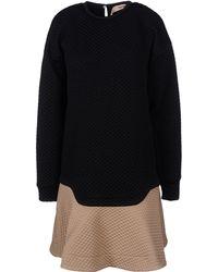 N° 21 Black Short Dress - Lyst