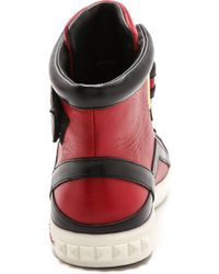 Pierre Balmain High Top Sneakers  Blackred - Lyst