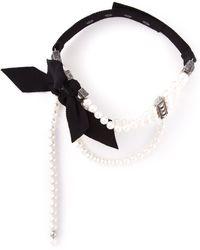 Lanvin Pearls Choker - Lyst