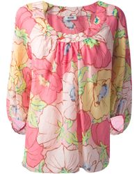 Moschino Cheap & Chic Floral Print Blouse - Lyst