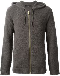 Marc Jacobs Textured Knit Hoodie Jacket - Lyst
