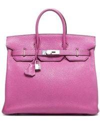 Hermès Pre-Owned Fuchsia Togo Leather Hac 32 Birkin Bag - Lyst