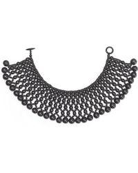Natori Six Layer Beaded Necklace - Lyst