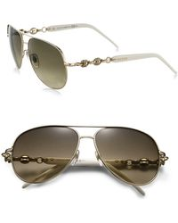 Gucci | Marina Chain 58mm Aviator Sunglasses | Lyst