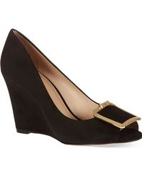 Tory Burch Brown Grayson Wedges - Lyst