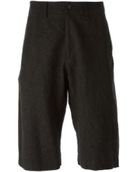 Issey Miyake Men Creased Effect Shorts - Lyst