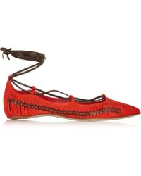 Daniele Michetti | Lace-up Suede Flats | Lyst