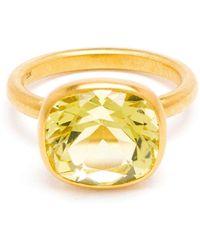 Marie-hélène De Taillac | 18Kt Gold Citron Quartz Ring | Lyst