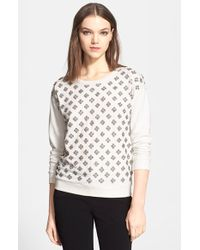 Alice + Olivia 'Drew' Embellished Sweater - Lyst