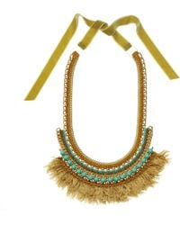 Margot & Me - Crochet Necklace Willow In Gold - Lyst