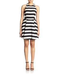 Alice + Olivia Chase Striped Tweed Racerback Dress - Lyst