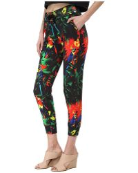 Love Moschino Tropical Print Casual Pant - Lyst