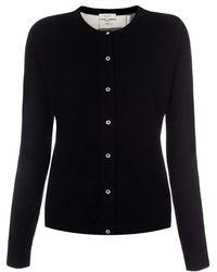 Paul Smith Black Merino Wool Cardigan With 'Graphic Batik' Silk Back - Lyst