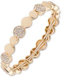 Anne Klein - Gold Pave Bracelet - Lyst