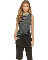 Alexander Wang Twisted Graphic Stripe Tank - Referee - Lyst
