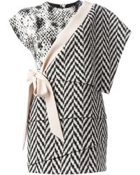 Emanuel Ungaro Mixed Print Panelled Dress - Lyst