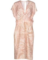 Emilio Pucci Pink Knee-length Dress - Lyst