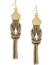 BCBGeneration - Snake-chain Knotted Drop Earrings - Lyst