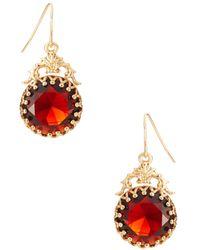 Lauren Ralph Lauren Stone Faceted Drop Earrings - Lyst
