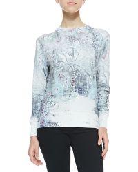 Ted Baker Cilene Printed Sweater W Embellishment - Lyst
