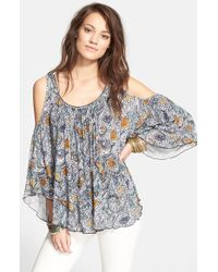 Free People 'Chloe' Cold Shoulder Tee - Lyst