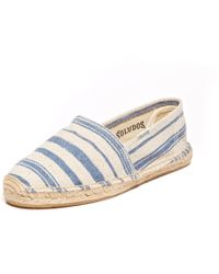 Soludos Painted Stripe Original blue - Lyst