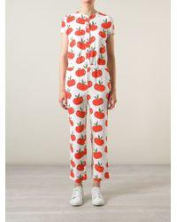 Au Jour Le Jour - Apple Print Jumpsuit - Lyst