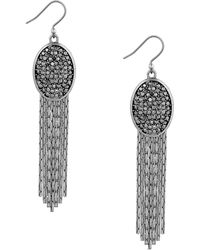 Lucky Brand - Modern Shine Oval Tassel Earrings - Lyst