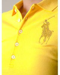 Ralph Lauren Yellow Polo T-shirt - Lyst