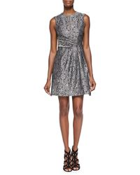 Nanette Lepore Sleeveless Fortune Teller Dress Black Multi 0 - Lyst