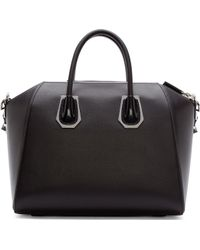 Givenchy Black Medium Waxy Antigona Bag - Lyst