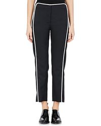 Paco Rabanne Crop Straight-Leg Trousers black - Lyst