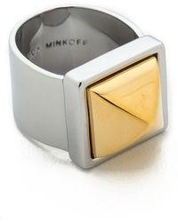 Rebecca Minkoff | Pyramid Ring - Gold/silver | Lyst