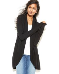 Eileen Fisher Long-sleeve Open Cardigan - Lyst