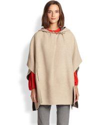 Halston Heritage Hooded Poncho - Lyst