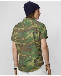 f81c3da1a5 Denim   Supply Ralph Lauren - Shortsleeve Camoprint Military Shirt - Lyst