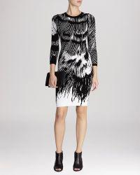 Karen Millen Dress - Abstract Feather Print Knit - Lyst