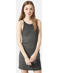 Topshop Strappy Body-Con Tank Dress gray - Lyst