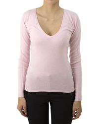 Ones | Pink V-neck Sweater | Lyst