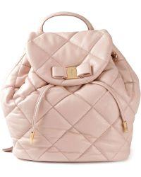 Ferragamo 'Vara' Quilted Backpack - Lyst
