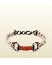 Gucci Blue Cord Bracelet with Horsebit - Lyst