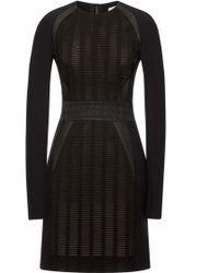 Antonio Berardi Embroidered Long Sleeve Sheath Dress - Lyst