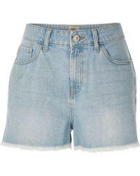 River Island | Light Wash Darcy Denim Shorts | Lyst