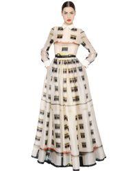 Daniele Carlotta Printed Silk Organza Dress - Lyst