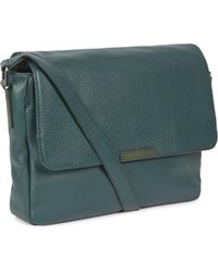 Marc By Marc Jacobs - Dark Green Grained Leather Messenger Bag - Lyst